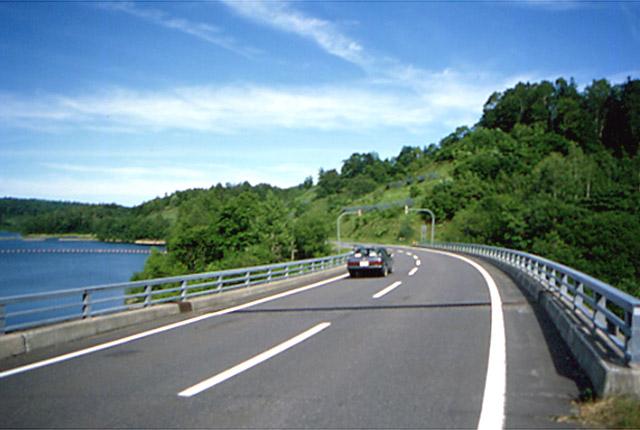 国道275号/幌加内町/朱鞠内湖