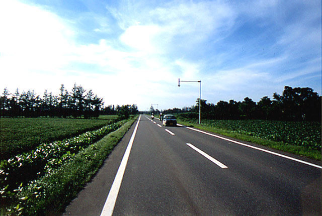 国道244号/斜里町/越川